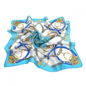 Esarfa din matase Blue chains [2]