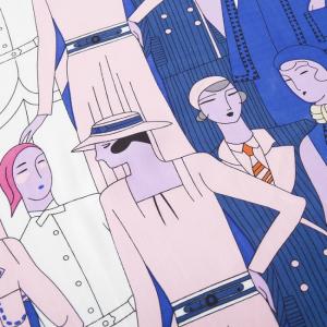 Esarfa din matase si poliester Paris Lady Blue2