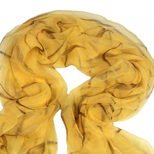 Esarfa din matase Yellow1