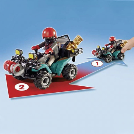 Playmobil Thief with Quad 4+1