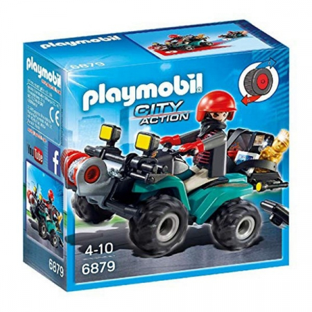 Playmobil Thief with Quad 4+0