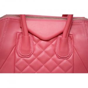 Geanta din piele naturala BubbleGum Pink3