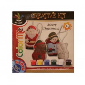 Kit creativ realizare figurine Craciun 3+0
