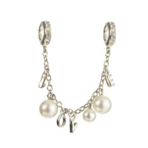 Lant de siguranta din argint cu perle [0]