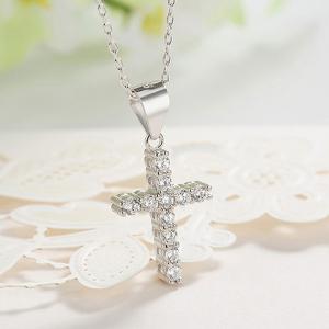 Pandantiv argint rodiat Cruce1