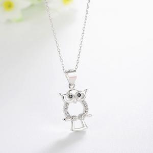 Pandantiv argint rodiat Owl1