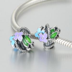 Pandantiv Buchet de flori din argint3