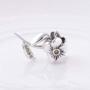 Pandantiv Floare cu tulpina din argint1