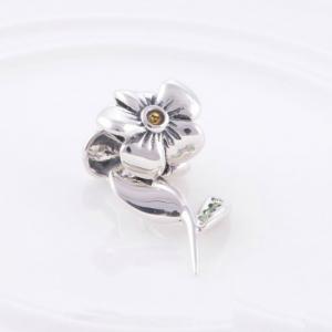 Pandantiv Floare cu tulpina din argint2