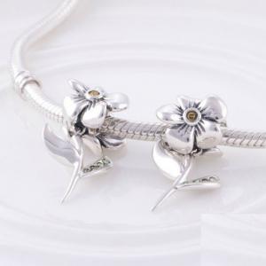 Pandantiv Floare cu tulpina din argint4