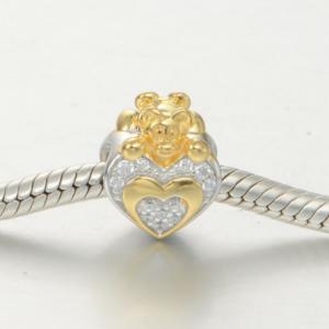 Pandantiv Heart&Bear din argint1