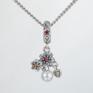 Pandantiv Love&Flowers din argint1
