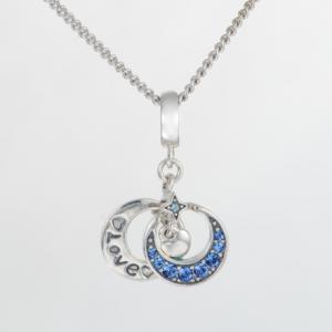 Pandantiv Luna si stea - Love din argint [1]