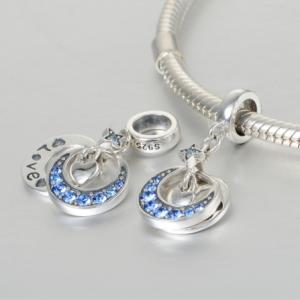 Pandantiv Luna si stea - Love din argint [3]