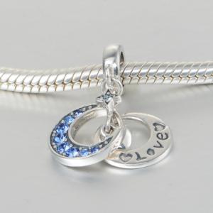 Pandantiv Luna si stea - Love din argint [2]