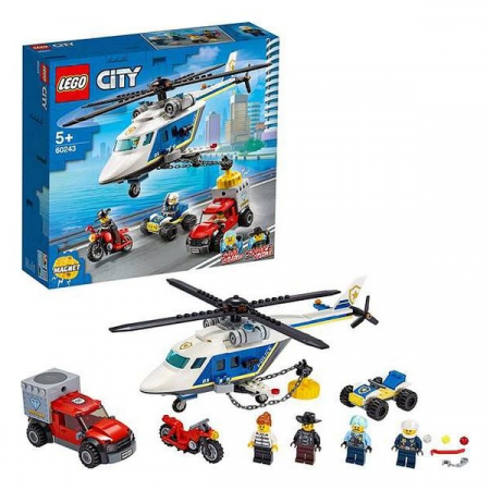 Playset Lego Police Helicopter Chase 5+1