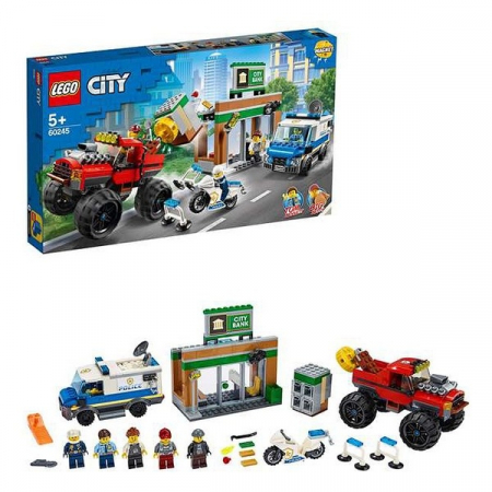 Playset Lego Police Monster Truck 5+3