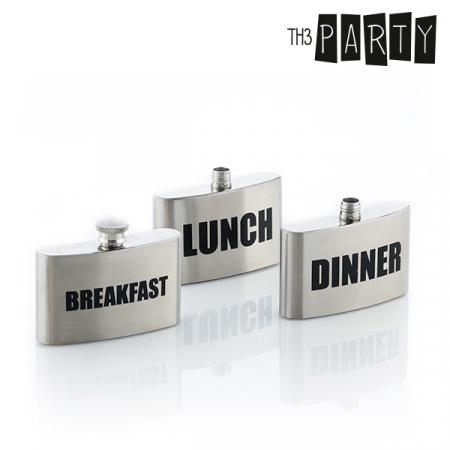 Plosca metalica Breakfast-Lunch-Dinner1