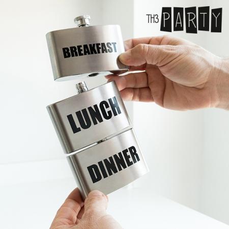 Plosca metalica Breakfast-Lunch-Dinner0