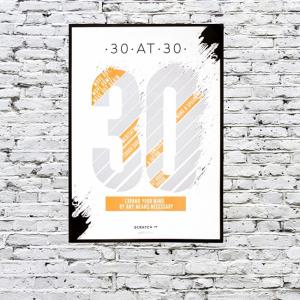Poster razuibil 30 de lucruri de facut la 30 ani0