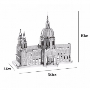 Puzzle metalic nano 3D - Catedrala St Paul [2]
