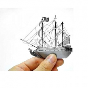 Puzzle metalic nano 3D  – Corabia Black Pearl4