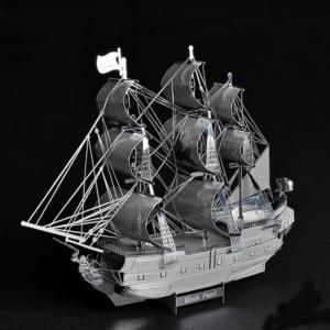 Puzzle metalic nano 3D  – Corabia Black Pearl1