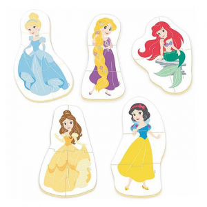 Set 5 Puzzle-uri baby Printese Disney 2+1