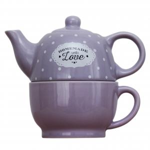 Set ceainic si ceasca Love Lavanda0