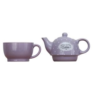 Set ceainic si ceasca Love Lavanda1