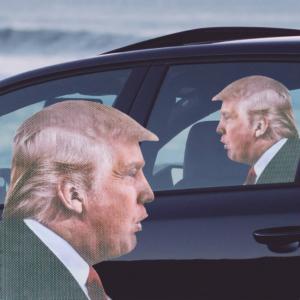 Sticker auto - Donald Trump0