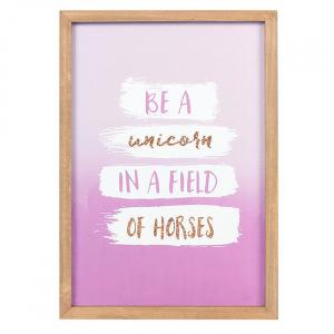 Tablou motivational Be a Unicorn0