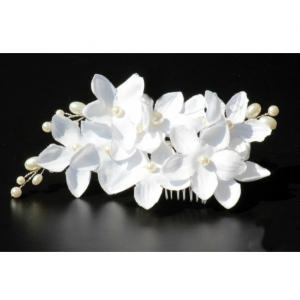 Tiara Agrafa White Flowers 4
