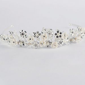 Tiara Flower Crown Silver2