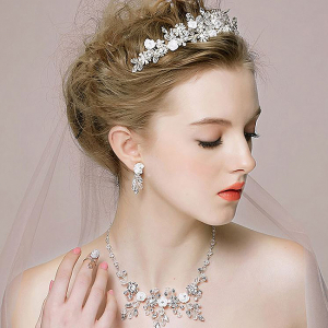 Tiara Flower Crown Silver4