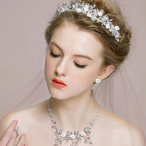 Tiara Flower Crown Silver3