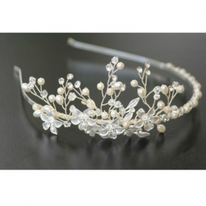 Tiara Flowers Bride0