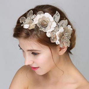 Tiara Gold Flowers&Leaves4