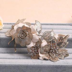 Tiara Gold Flowers&Leaves2
