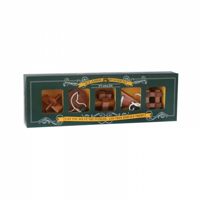 5 Classic Wooden Puzzles [0]