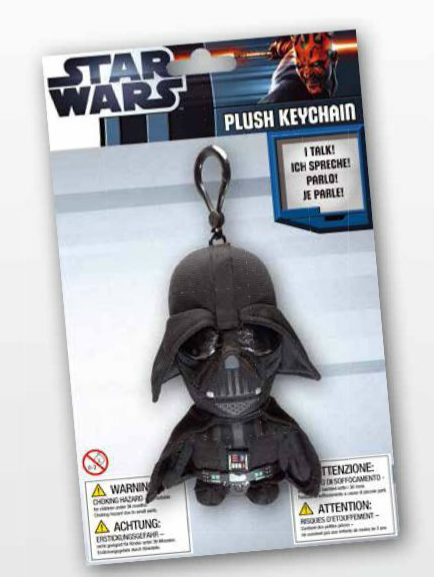 Breloc cu sunet Darth Vader - 10 cm