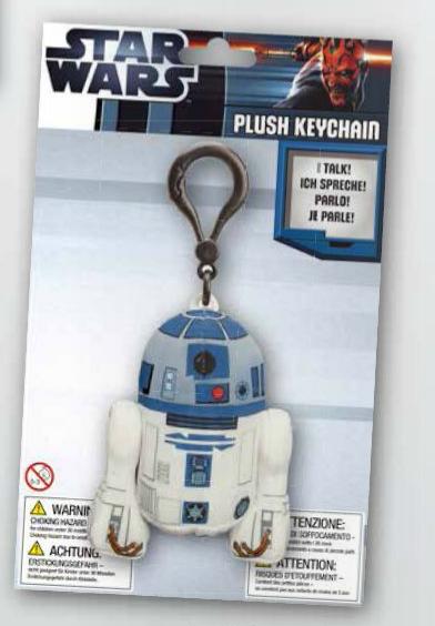 Breloc cu sunet R2-D2 - 10 cm 0