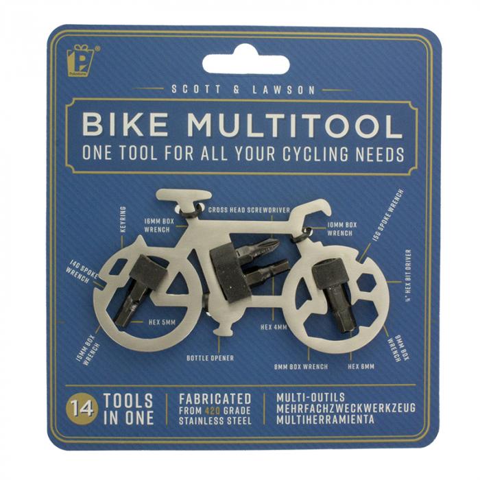 Breloc multifunctional 14 in 1 pentru bicicleta 1
