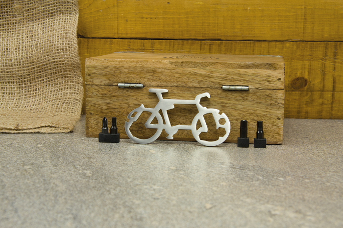 Breloc multifunctional 14 in 1 pentru bicicleta 0