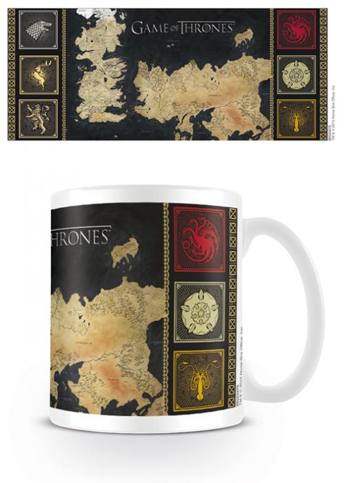 Cana Game of Thrones - Harta Westeros