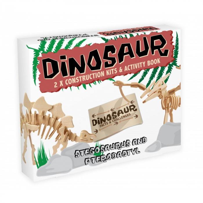 Dinosaur Construction Kit - Stegosaurus & Pterodactyl 0