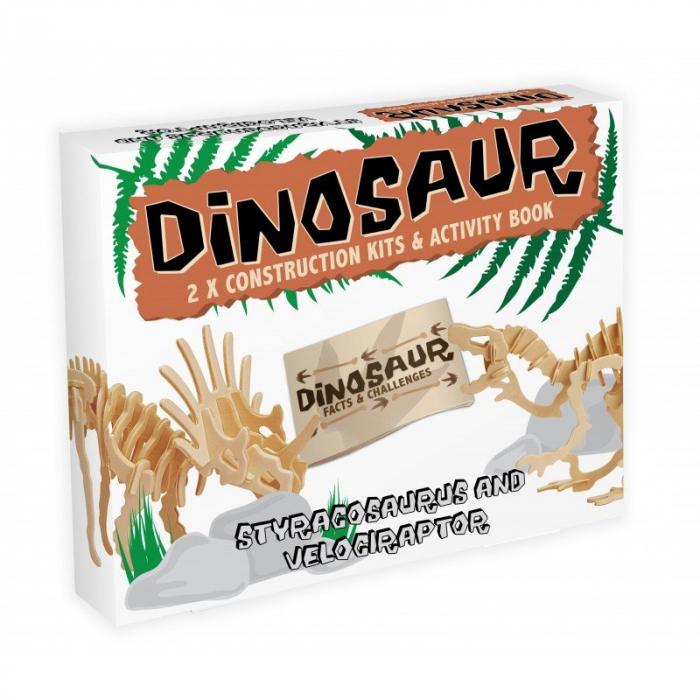 Dinosaur Construction Kit - Styracosaurus & Velociraptor 0