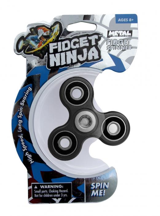 Fidget Ninja Metal Spinner - Negru 5
