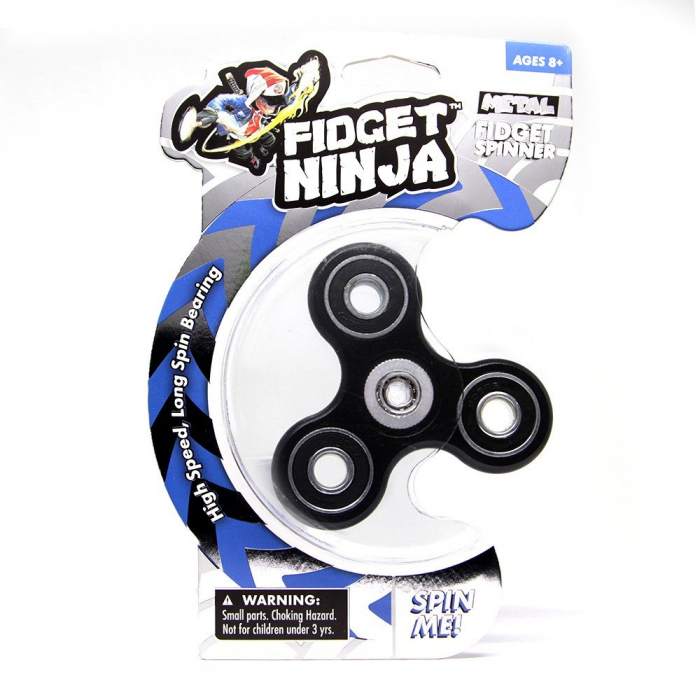 Fidget Ninja Metal Spinner - Negru 4