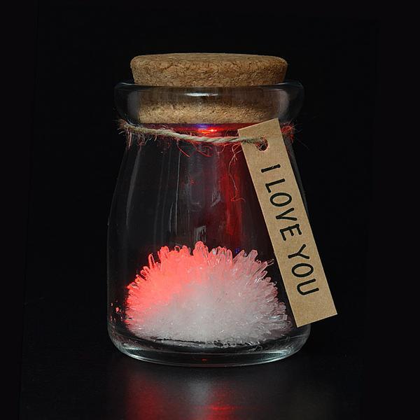 Floare din cristale roz - I love you 1